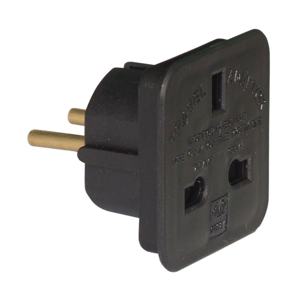 10 A Travel Adaptor Uk To European Schuko White Plug