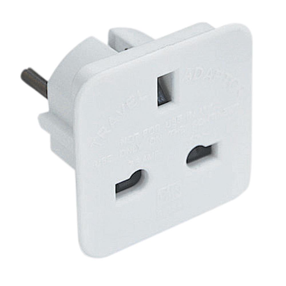 Uk 3 Pin Socket To 2 Pin European Plug 7 5a Black Plug